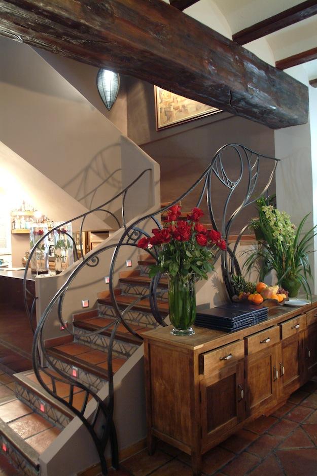 barandilla de forja artesanal, para un restaurante en Altea, Costa Blanca