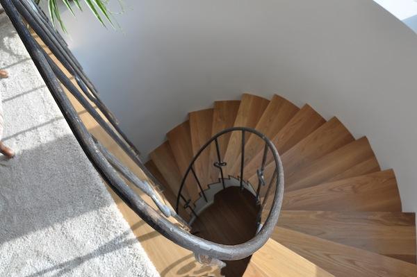 """""""retoño"""", barandilla y pasamanos de una escalera caracol en forja artística, Alicante, España"""