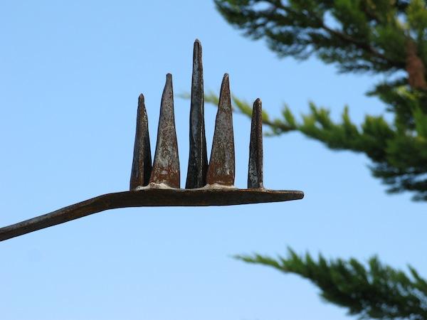 """""""Agavenblüte"""" Detail Pergola aus geschmiedetem Stahl, Alicante, Spanien"""