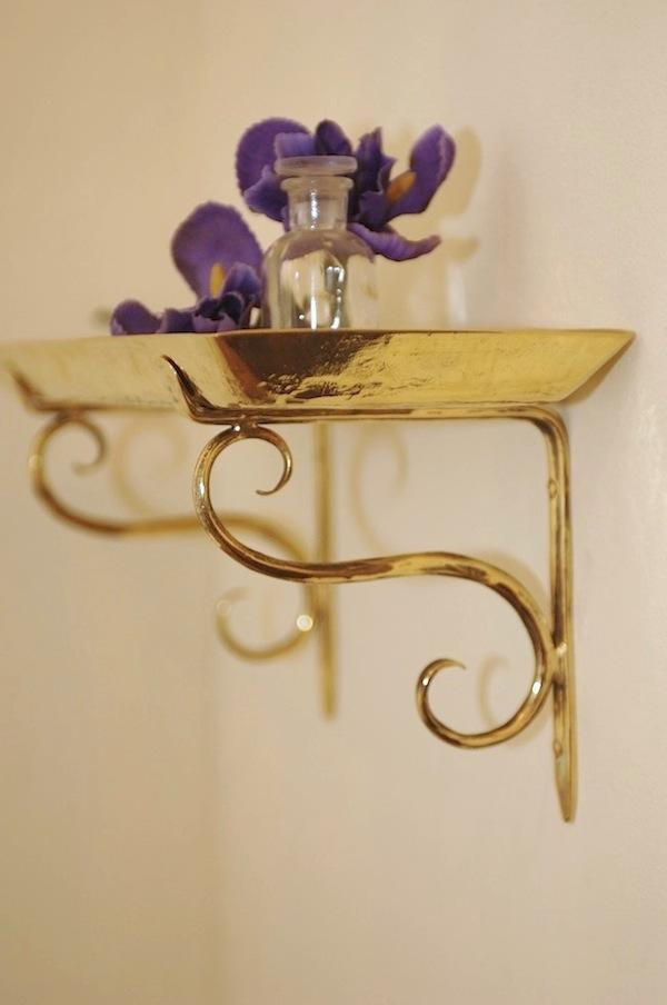 accesorios de bronce para baño, bandejade bronce repujada,