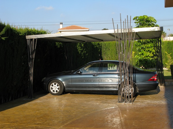 carport cubierta de diseño para 2 coches