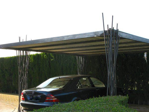 carport de diseño con cubierta